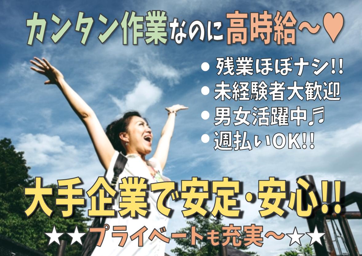 ◆人気の日勤&簡単作業◆時給1250円~ ◆目視でチェックするだけ!【具材の目視検査】